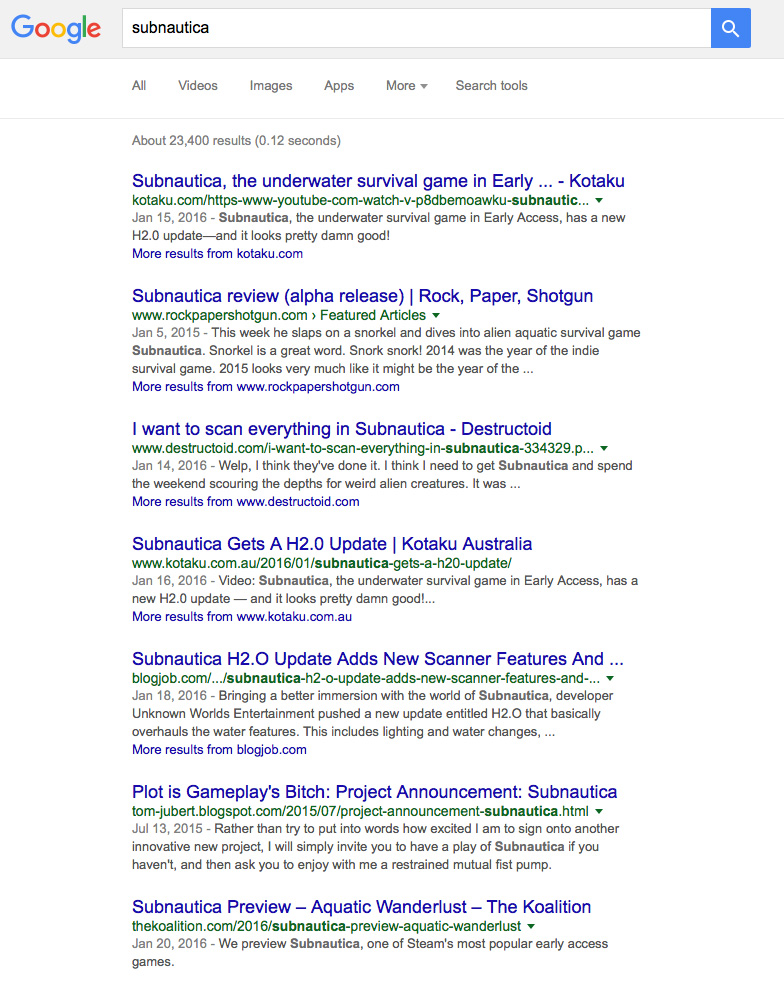 Google Blog Results